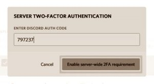 Enable Two-factor Authentication on Discord Server - Step 3